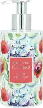 """Romantic Flowers""  Cremeseife - florales Design (250 ml)"