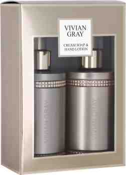 """CRYSTALS"" Geschenkset Creme Seife & Handlotion - in Braun (2 x 250ml)"