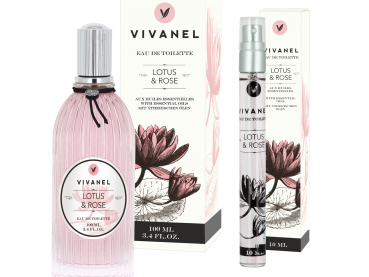 "VIVANEL ""Eau de Toilette""  Lotus & Rose  (100 ml + 10 ml) - vegan"